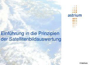 Einführung in die Prinzipien der Satellitenbildauswertung