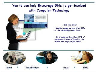 You to can help Encourage Girls to get involved with Computer Technology