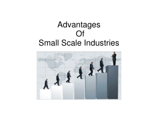 advantages of small scale industries
