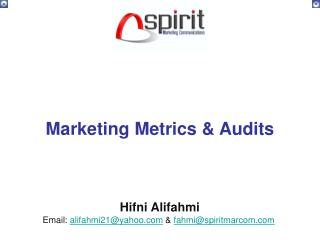 Marketing Metrics & Audits