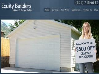 New and Custom Garages Builders Company in Utah.