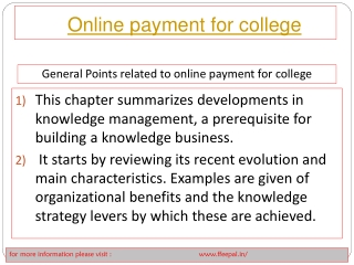 Feepal provide batter services online payment for college
