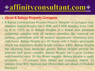 high end apartments goregaon!!raheja luxury apartments