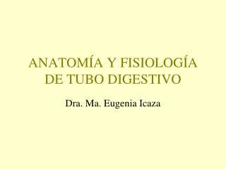 ANATOMÍA Y FISIOLOGÍA DE TUBO DIGESTIVO