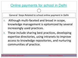 Useful Information about online paymnet for school in Delhi