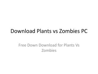 download plants vs zombies pc