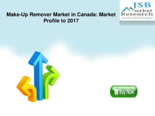 Make-Up Remover Market in Canada: Market Profile to 2017