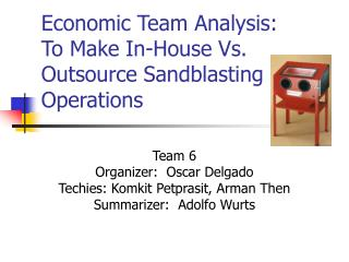 Economic Team Analysis:  To Make In-House Vs. Outsource Sandblasting Operations
