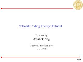 Network Coding Theory: Tutorial