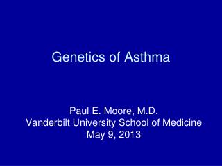 Genetics of Asthma