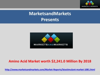 Amino Acid Market worth $2,241.0 Million By 2018