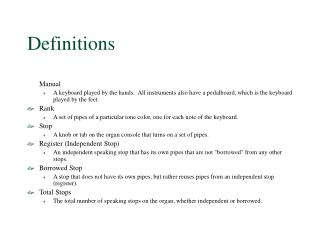 Definitions