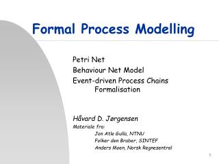 Formal Process Modelling