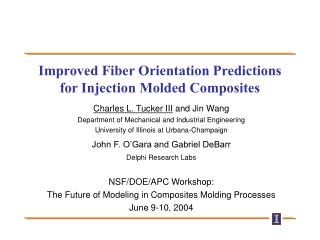 Improved Fiber Orientation Predictions for Injection Molded Composites