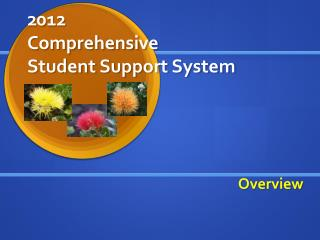 2012 Comprehensive Student Support System