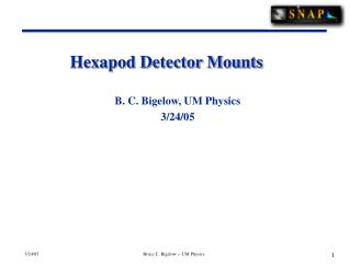 Hexapod Detector Mounts