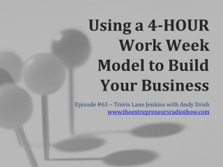 Using a 4-hour Work Week Model To Build Your Business