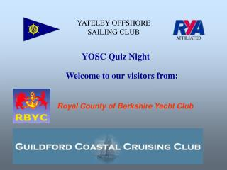 YATELEY OFFSHORE SAILING CLUB