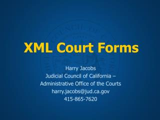 XML Court Forms