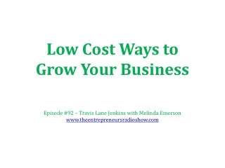 Low Cost Way to Grow Your Business