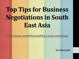 Top Tips for Business Negotiations in South East Asia
