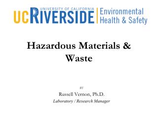 Hazardous Materials & Waste