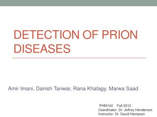 Detection of Prion Diseases