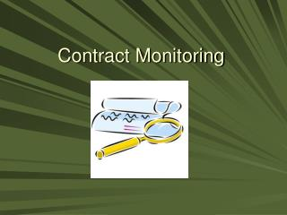 Contract Monitoring