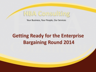 Getting Ready for the Enterprise Bargaining Round 2014