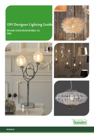 DIY Designer Lighting Guide