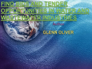 Find Bids and Tender Opportunities in Water and Wastewater I