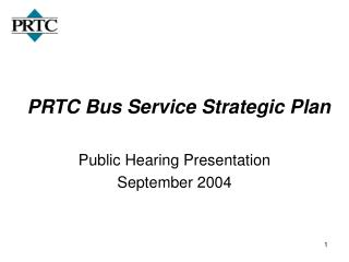 PRTC Bus Service Strategic Plan