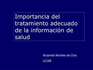 Acianela Montes de Oca UCAB