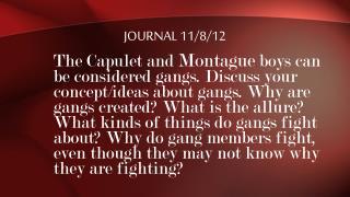 Journal 11/8/12