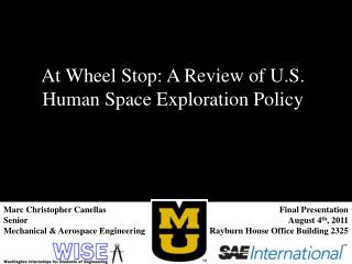 At Wheel Stop: A Review of U.S. Human Space Exploration Policy