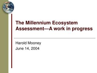 The Millennium Ecosystem Assessment—A work in progress
