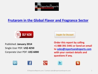 Insights on Frutarom in the Global Flavor and Fragrance Sec