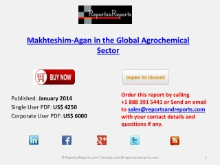 Makhteshim-Agan in the Global Agrochemical Industry Goals an