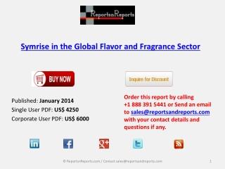 Symrise in the Global Flavor and Fragrance Market Comprehens