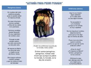 """""""LETANÍA PARA PEDIR POSADA"""""""