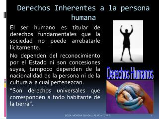 Derechos Inherentes a la persona humana