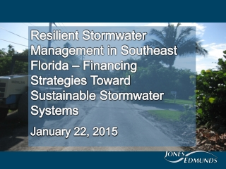 Needs for a Stormwater Management Program