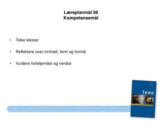 Læreplanmål 06 Kompetansemål