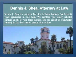 Bankruptcy Attorney in Santa Barbara