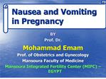 nausea and vomiting in pregnancy