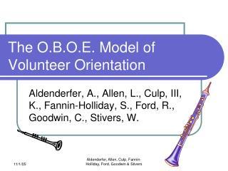 The O.B.O.E. Model of Volunteer Orientation