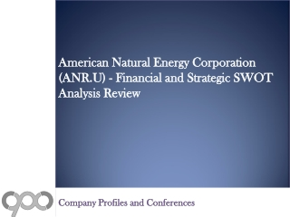 American Natural Energy Corporation (ANR.U) - Financial and