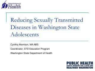 Reducing Sexually Transmitted Diseases in Washington State Adolescents