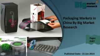 Packaging Markets in China