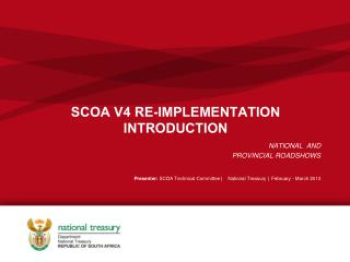 SCOA V4 RE-IMPLEMENTATION INTRODUCTION
